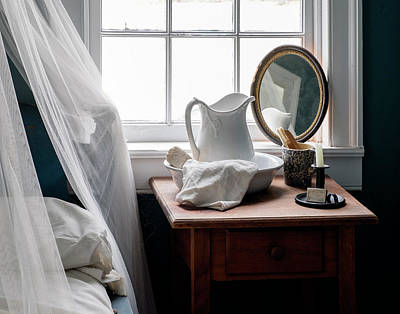 Photograph - Her Nightstand - Antique Bedroom by Betty Denise