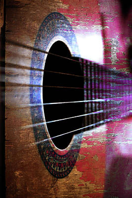 Her Old Guitar Art Print by Rozalia Toth