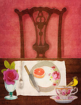 Her Place At The Table Art Print by Lisa Noneman