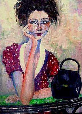 Painting - Her Purse by Esther Woods