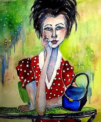 Painting - Her Purse Too by Esther Woods
