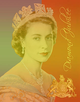 Family Crest Digital Art - Her Royal Highness Queen Elizabeth II by Heidi Hermes