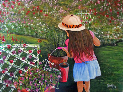 Painting - Her Secret Garden by Gloria E Barreto-Rodriguez