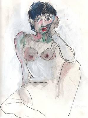 Self-portrait Drawing - Her - Self Portrait by Carolyn Weltman