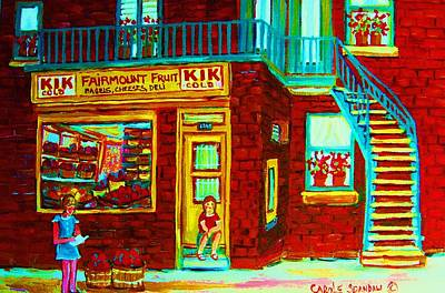 Kik Cola Painting - Her Shopping List by Carole Spandau