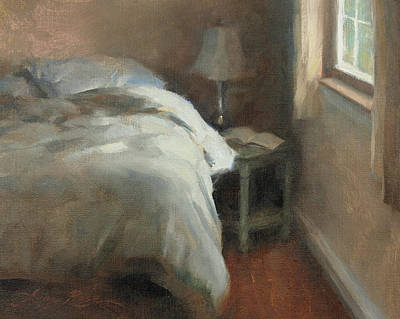 Interior Scene Painting - Her Side by Anna Rose Bain