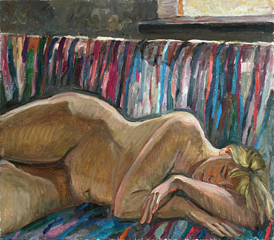 Painting - Her Sleep by Juliya Zhukova