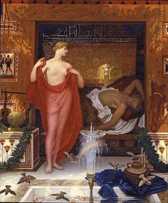 Hera Painting - Hera In The House Of Hephaistos by William Blake Richmond