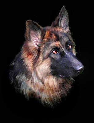 German Shepherd Digital Art - Hera by Julie L Hoddinott
