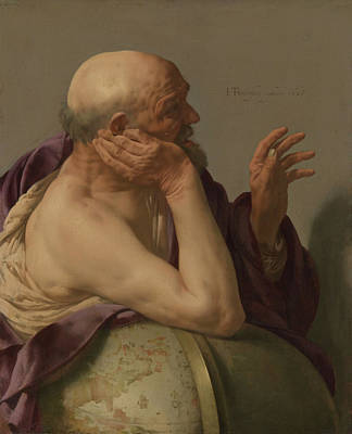 Crying Painting - Heraclitus by Hendrick Ter Bruggen