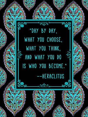 Heraclitus Wisdom Print by Scarebaby Design
