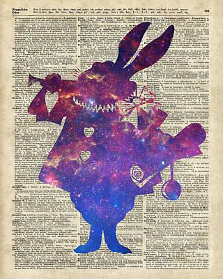 Constellation Drawing - Herald Purple Rabbit by Jacob Kuch