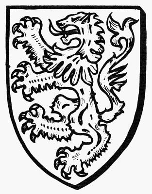 Heraldry: Lions Art Print