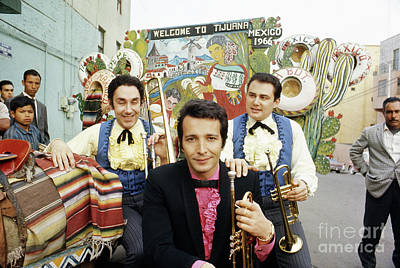 Tijuana Photograph - Herb Alpert, Bob Edmondson And Tonni Kalash by The Harrington Collection