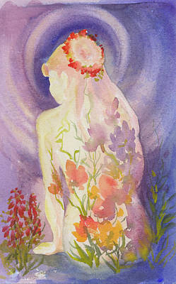 Painting - Herbal Goddess  by Caroline Patrick
