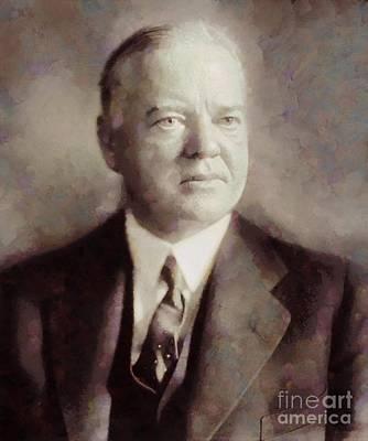 Herbert Hoover, President Of The United States By Sarah Kirk Art Print