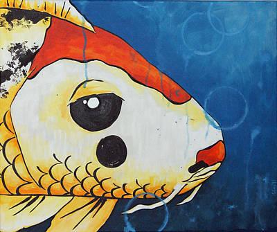 Clown Fish Drawing - Herbert by Juliet Magill