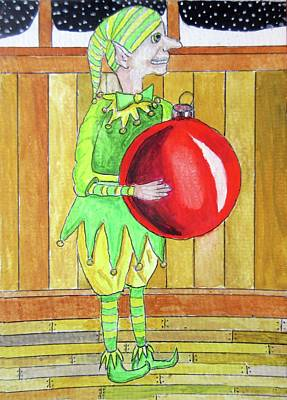 Herbie The Ornament Elf Original by Gordon Wendling