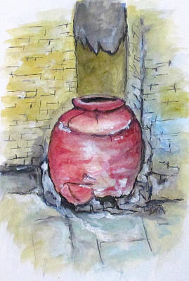 Painting - Herculaneum Amphora Pot by Clyde J Kell