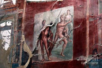 Herculaneum Fresco Art Print by Erik Falkensteen