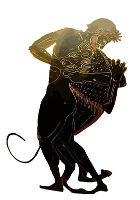 Hercules And The Nemean Lion Art Print by Tracey Harrington-Simpson