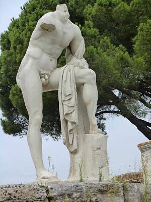 Pagan Nude Photograph - Hercules At Ostia Antica by Mindy Newman
