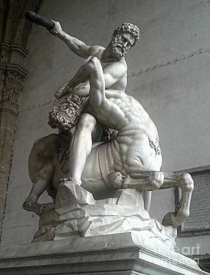 Photograph - Hercules Beating The Centaur Nessus by Gregory Dyer