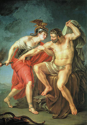 Pyre Painting - Hercules Burning Himself On The Pyre In The Presence Of His Friend Philoctetes by Ivan Akimov