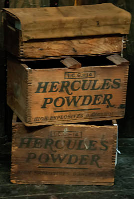 Photograph - Hercules Dynamite Crates by Chris Flees