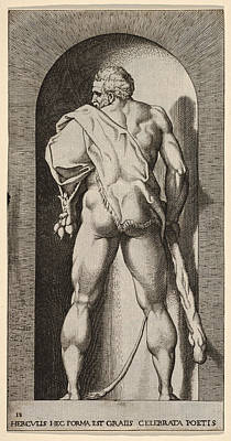 Drawing - Hercules by Giovanni Jacopo Caraglio