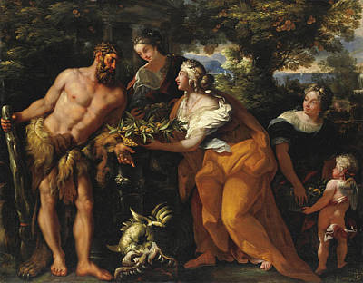 Rocca Painting - Hercules In The Garden Of The Hesperides by Michele Rocca