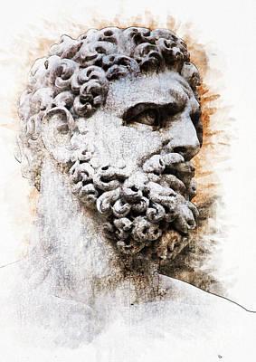 Statues Painting - Hercules by Diana Van