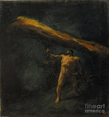 Hercules Searching For The Hesperides Art Print