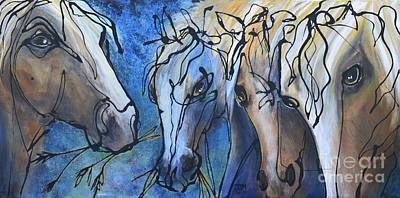 Herd Dynamics Art Print by Jonelle T McCoy