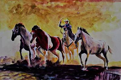 Painting - Herdsman by Khalid Saeed