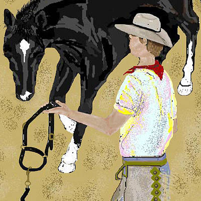 Here Boy Art Print by Carole Boyd