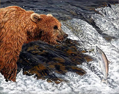 Painting - Here Comes Dinner by Linda Becker