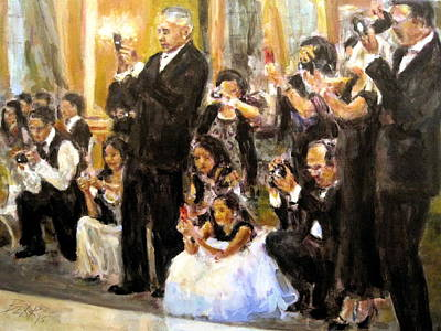 Painting - Here Comes The Bride by Chuck Berk