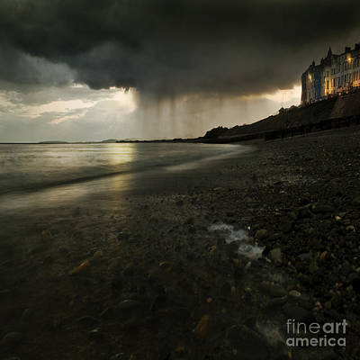 Shore Photograph - Here Comes The Rain by Angel  Tarantella