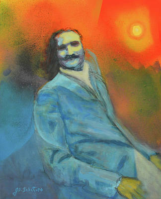Baba Portrait Painting - Here Comes The Sun by Joe DiSabatino