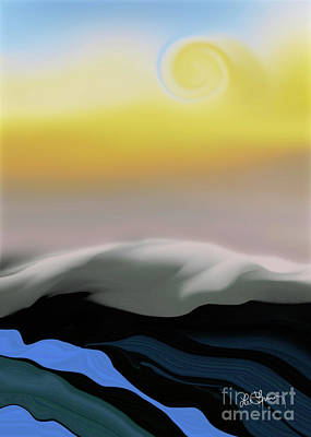 Digital Art - Here Comes The Sun by Leo Symon