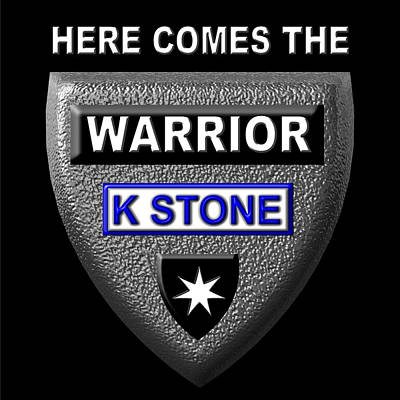 Wall Art - Digital Art - Here Comes The Warrior by K STONE UK Music Producer