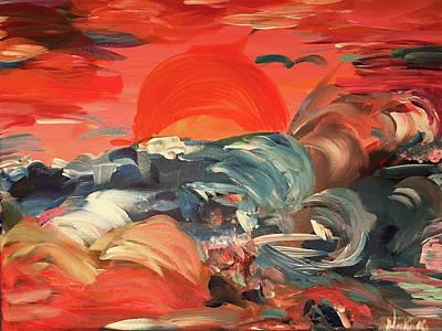 Here Comes The Weekend Aka Indian Rocks Beach Sunset Art Print