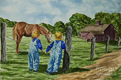 New York Painter Painting - Here Horsey Horsey by Charlotte Blanchard