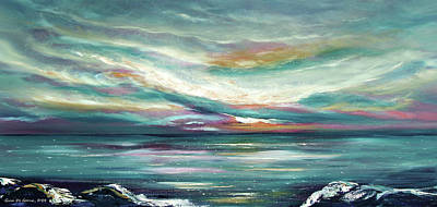 Painting - Here I Stand - Panoramic Sunset by Gina De Gorna