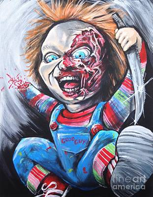 Chucky Painting - Here Is Chucky by Tyler Haddox