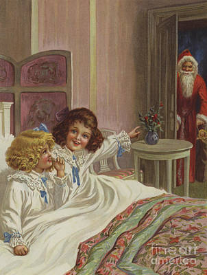 Kringle Painting - Here Is Father Christmas by English School
