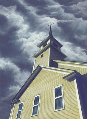 Painting - Here Is The Steeple by Anne Leeds