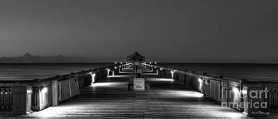 Photograph - Here It Comes Folly Beach Pier Sunrise Art by Reid Callaway