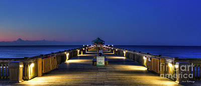 Photograph - Here It Comes Now Folly Beach Pier Sunrise Art by Reid Callaway